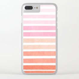 Camil - ombre gradient brushstrokes abstract painting minimalist seaside coastal beach cottage decor Clear iPhone Case