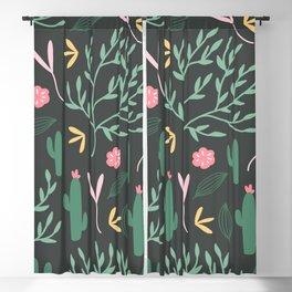 Cactus Garden Summer Blackout Curtain