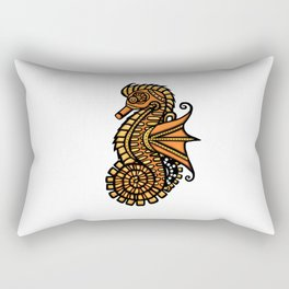 Steampunk Seahorse Rectangular Pillow