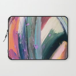 Eye of the Beholder [4]: a colorful, vibrant abstract in purples, blues, orange, pink, and gold Laptop Sleeve