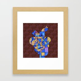 Art History Geometry: Van Gogh & Klimt Framed Art Print