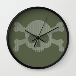 skull stripes Wall Clock
