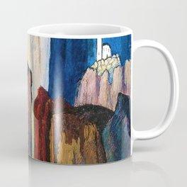 Alpine Verdon Canyon Trail mountain landscape painting by Marianne von Werefkin Coffee Mug