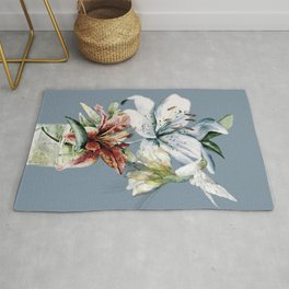 Hummingbird with Flowers Rug
