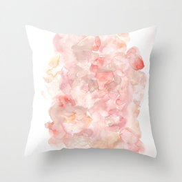 The Middle The Journey || Clearing of the Fog|Modern Watercolor Art | Abstract Watercolors Throw Pillow