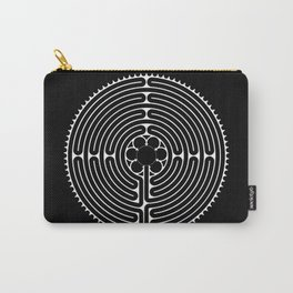 Cathedral of Our Lady of Chartres Labyrinth - Negative Carry-All Pouch