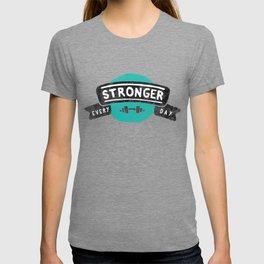 Stronger Every Day (dumbbell) T-shirt