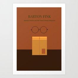 Barton Fink minimalist poster Art Print
