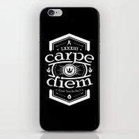 carpe diem iPhone & iPod Skins featuring Carpe Diem by 83 Drops