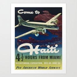 Vintage poster - Haiti Art Print