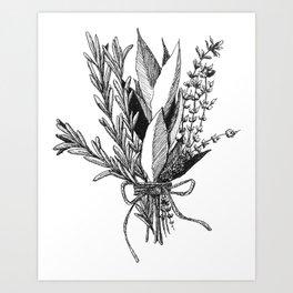 Herb Bundle Art Print