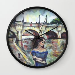 Under Paris skies. Wall Clock