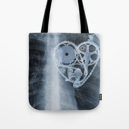 X Ray Bicycle heart components Tote Bag