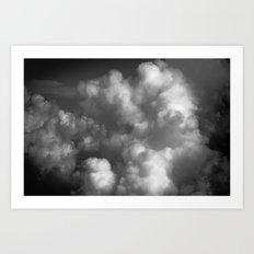 Clouds 01 B&W Art Print