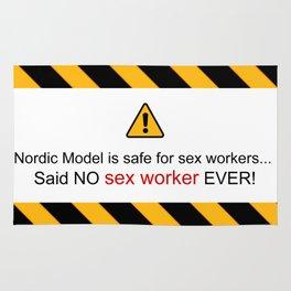 Said no sex worker Rug