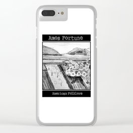 Amos Fortune Snake on Tracks Clear iPhone Case