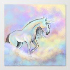 Unicorn White Horse Canvas Print