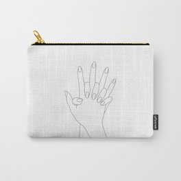 Holding hands line art - Verity Carry-All Pouch