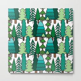 Evergreen Forest Metal Print