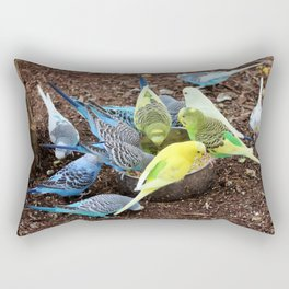 Budgie Dive-In Rectangular Pillow
