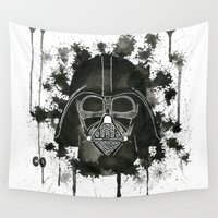 dark side Wall Tapestries featuring Dark side by Gilles Bosquet