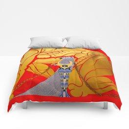 """Art Deco Design """"Sampson & Delilah"""" by Erté Comforters"""