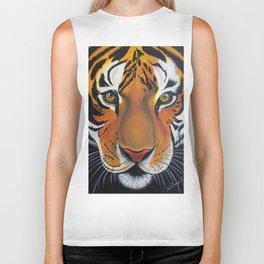 Tiger, acrylic on canvas Biker Tank