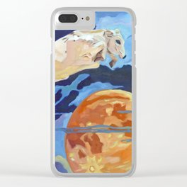 The Cow Jumped Over the Moon Clear iPhone Case