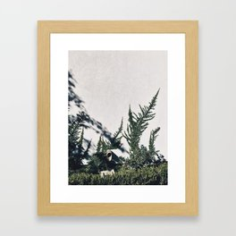 Floral White Wall Framed Art Print