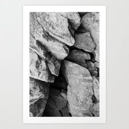 Cunningham Falls Rock Study 2 Art Print