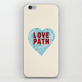 Love Path iPhone Skin