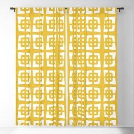 Mid Century Modern Pattern 271 Mustard Yellow Blackout Curtain