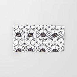 happy hallowen curves and pumkins pattern Hand & Bath Towel