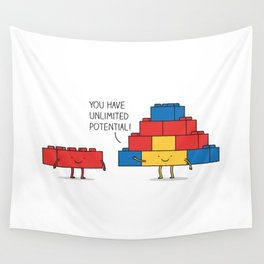 positive blocks... Wall Tapestry