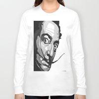 salvador dali Long Sleeve T-shirts featuring Salvador Dali by Frankie Luna III