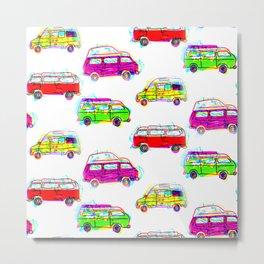 Hipster Camper Van Design Metal Print