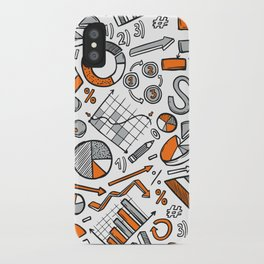 Charts Sketch Seamless Pattern iPhone Case