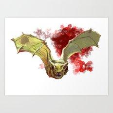 Bat Flight Art Print