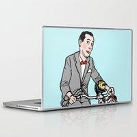 pee wee Laptop & iPad Skins featuring Pee Wee Herman by Michael Scarano