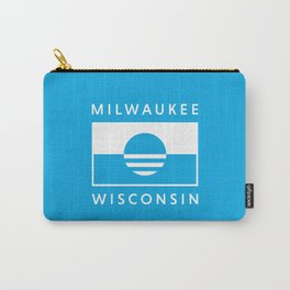 Milwaukee Wisconsin - Cyan - People's Flag of Milwaukee Carry-All Pouch