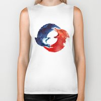 drink Biker Tanks featuring Ying yang by Robert Farkas