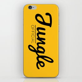 Gold and black Jungle iPhone Skin