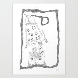 skullhearvoices Art Print