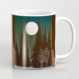 Into The Cold Winter Woods Coffee Mug
