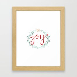 Holiday Joy Framed Art Print