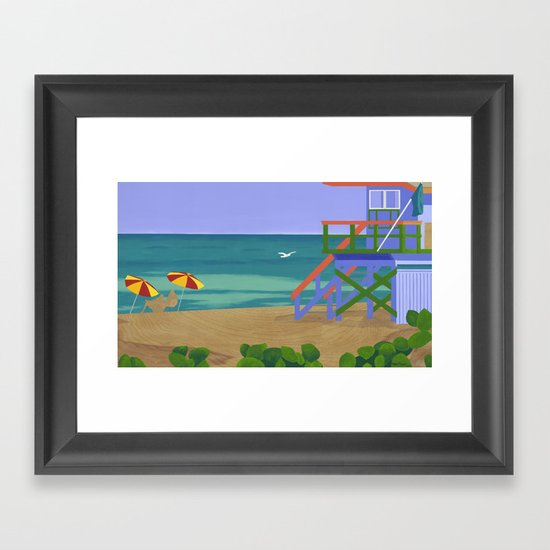 South Beach Framed Art Print