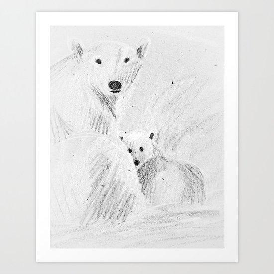 arctic bears Art Print