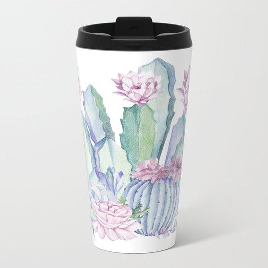Desert Love Cactus + Succulents Metal Travel Mug