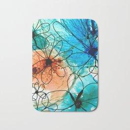 Modern Floral Art - Wild Flowers 2 - Sharon Cummings Bath Mat