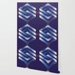 Floating Geometry :: Winter Hexagon Wallpaper